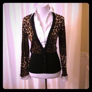 Super Fun Leopard Print Sweater